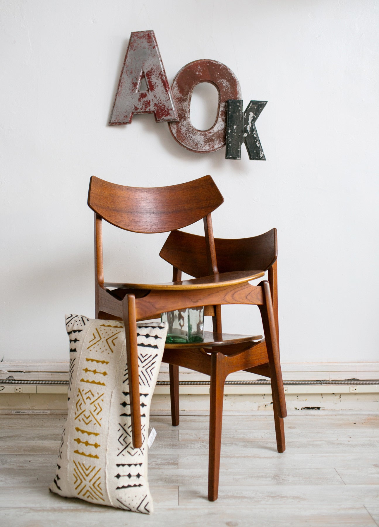 Erik Buck Mid-century wood side chairs - Barefoot Dwelling
