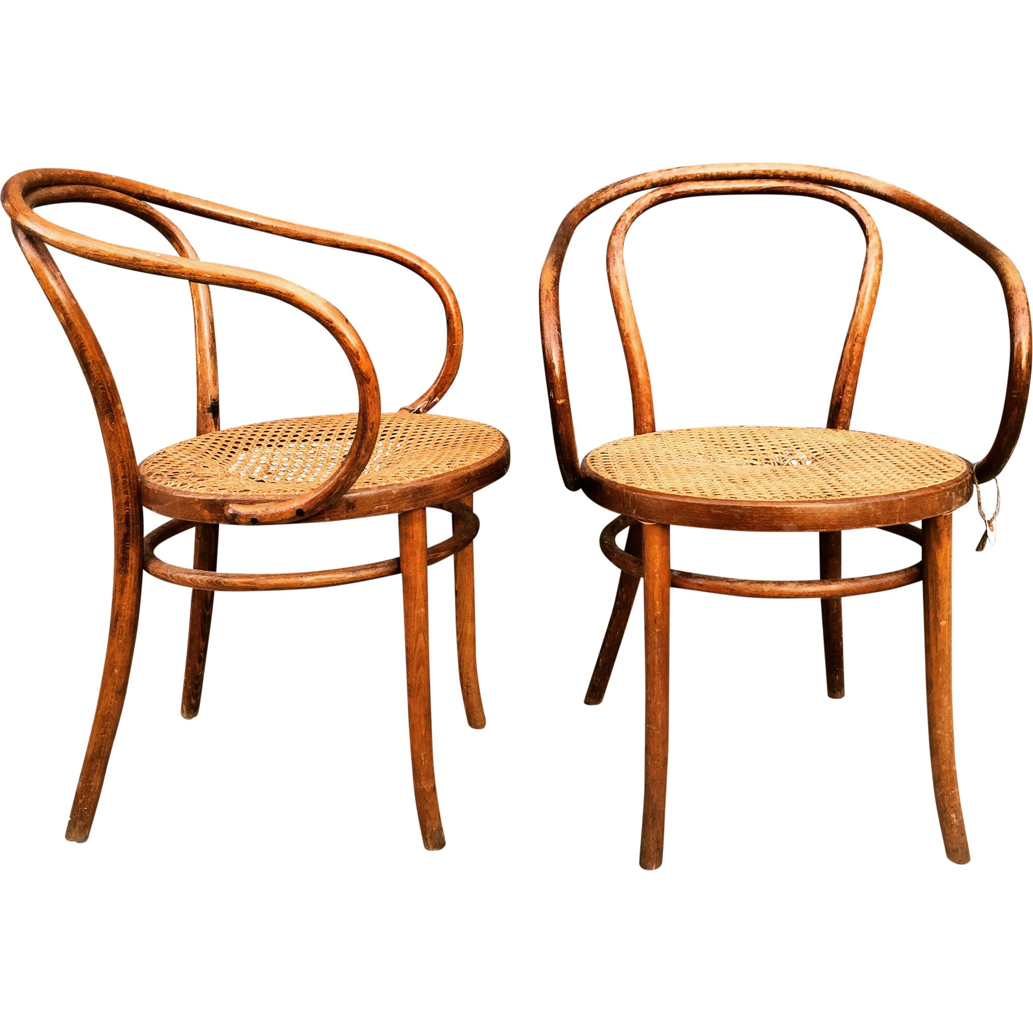 Brand new Vintage Thonet Cane Chairs - Barefoot Dwelling BX47