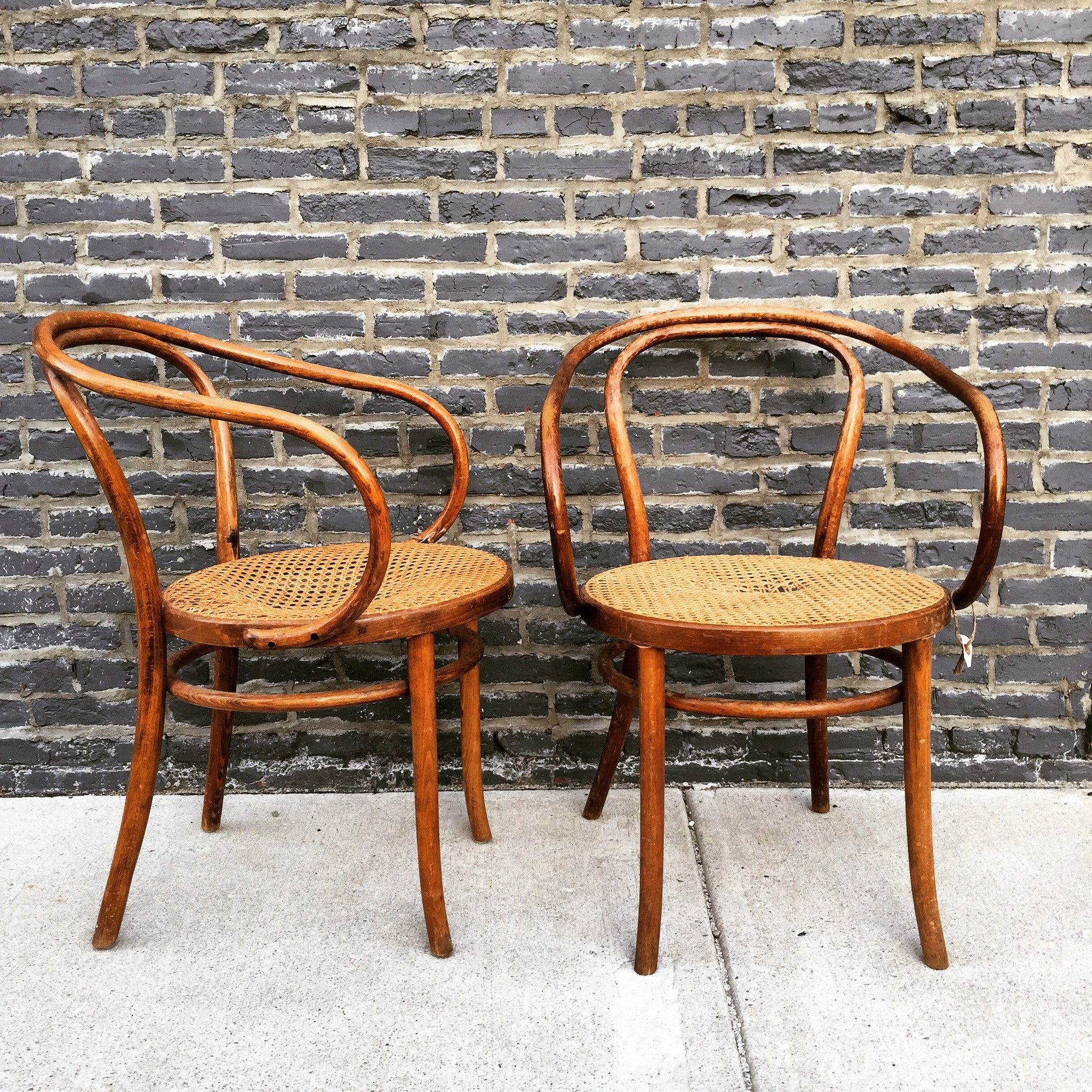 vintage thonet cane chairs barefoot dwelling. Black Bedroom Furniture Sets. Home Design Ideas