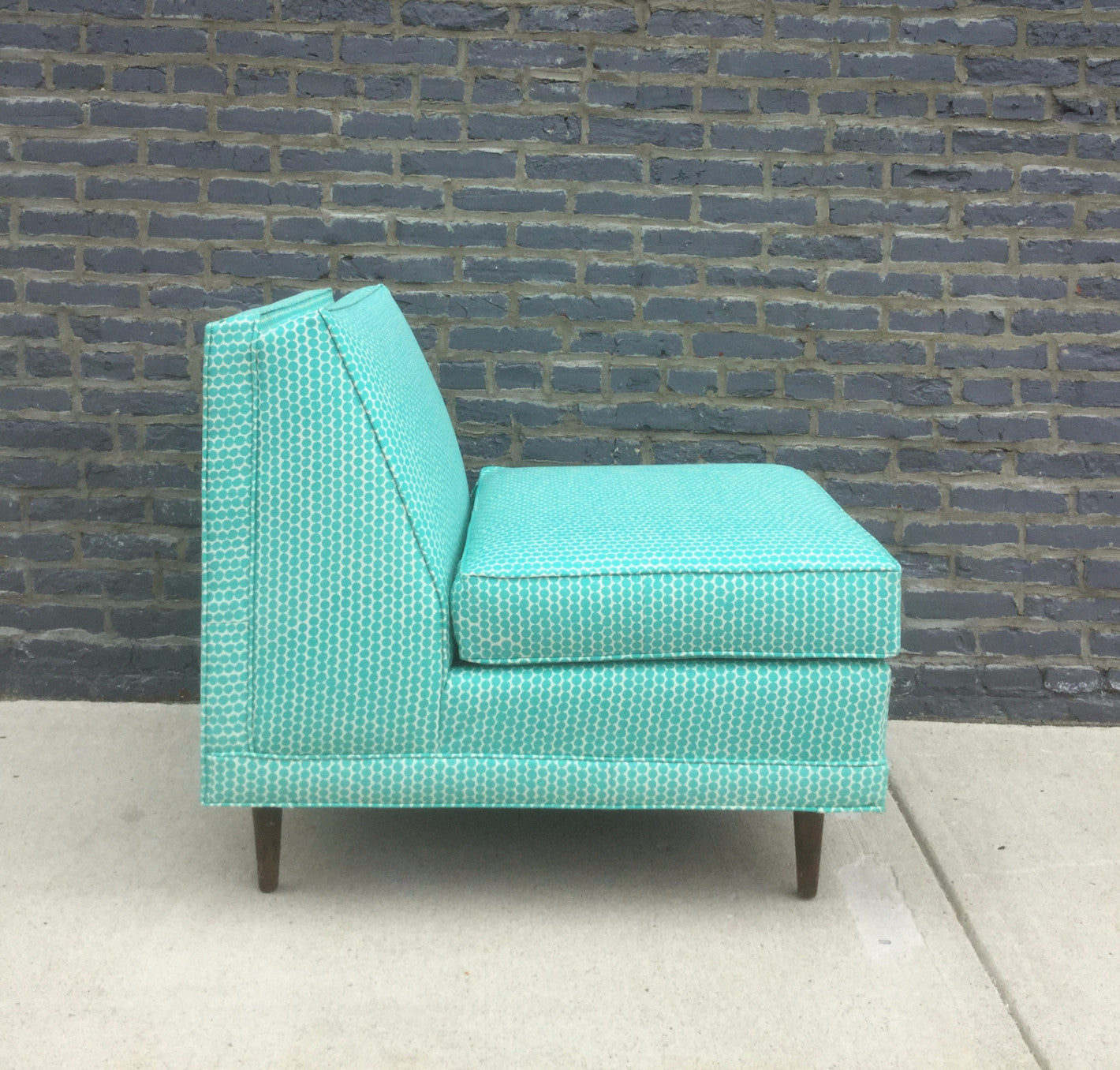 : teal armless chair - Cheerinfomania.Com
