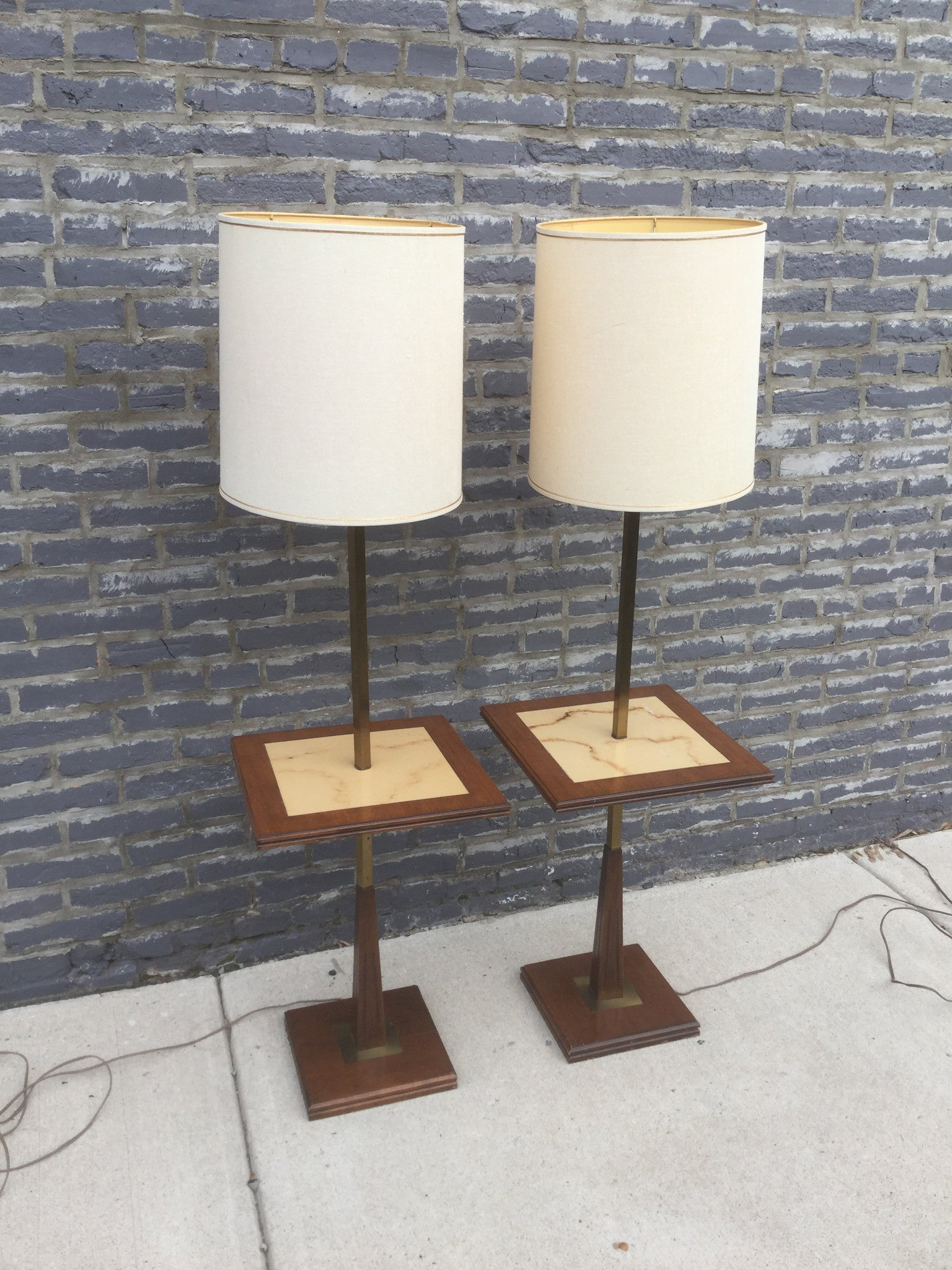 Tables barefoot dwelling mid century modern lamp tables pair barefoot dwelling geotapseo Image collections