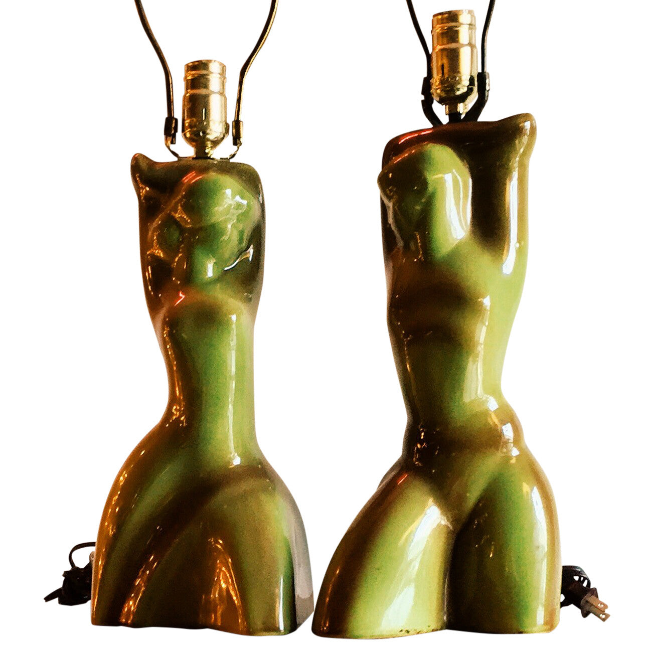 Mid-Century Modern Nude Lamps Pair - Barefoot Dwelling