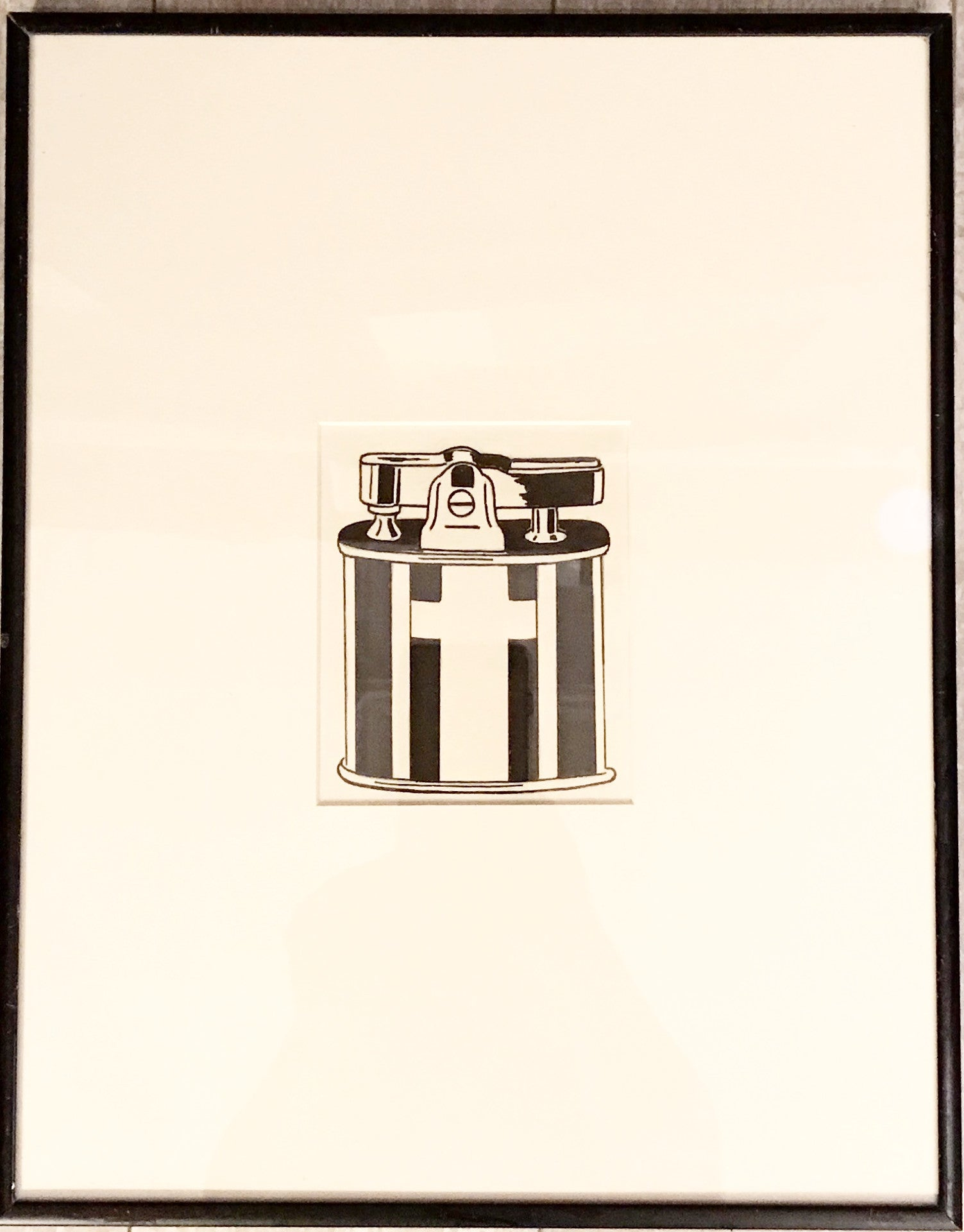 "Black and White Print ""Ronson Lighter"" - Barefoot Dwelling"