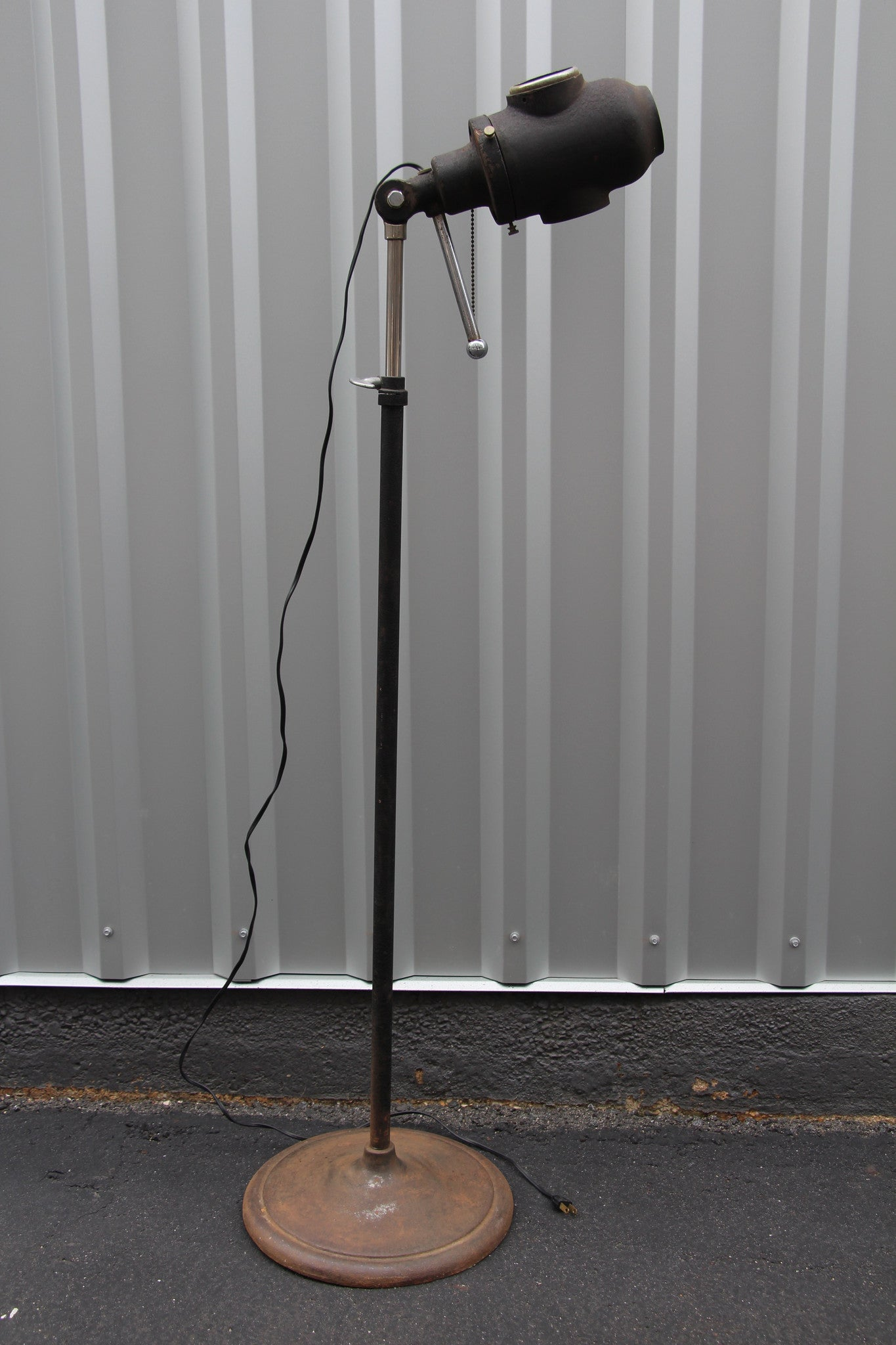 Vintage Industrial Stage Floor Lamp - Barefoot Dwelling