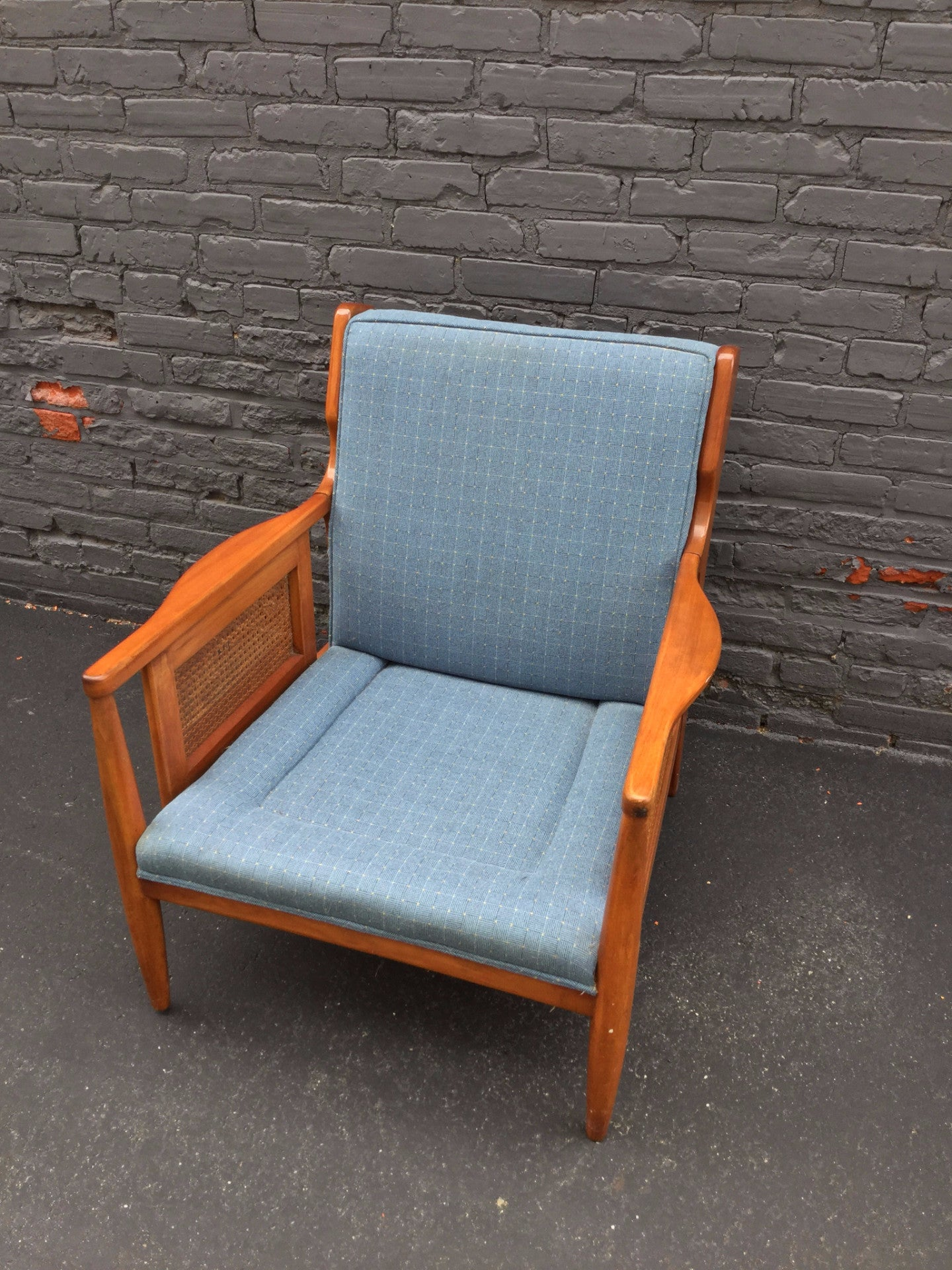 Mid Century Modern Cane Lounge Chair Barefoot Dwelling