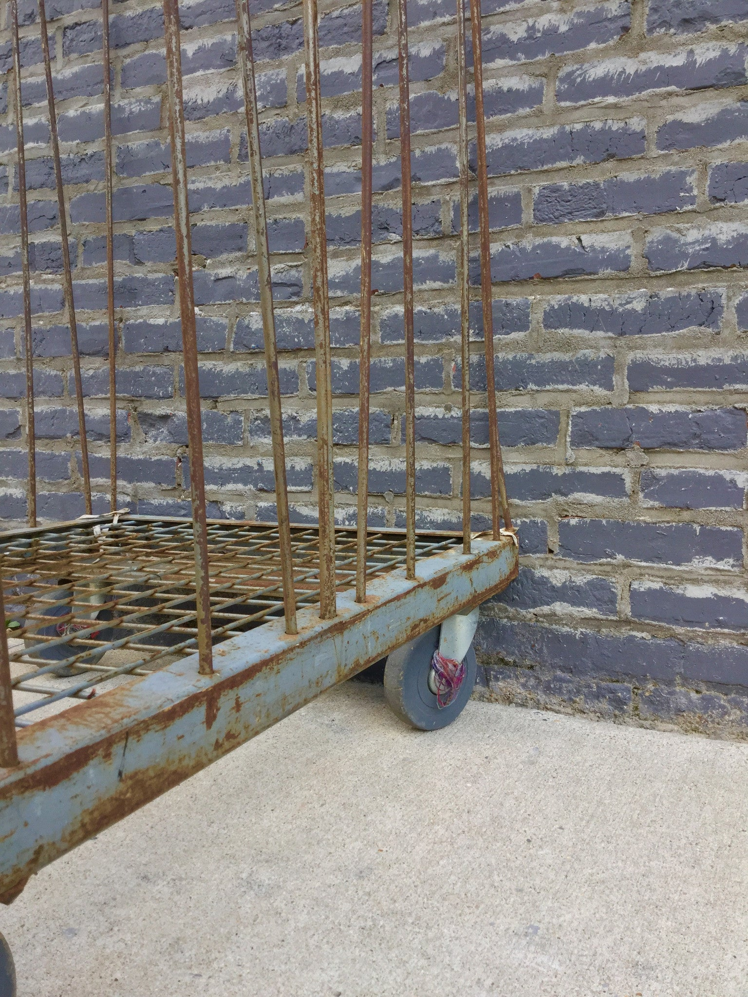 Industrial Hall Cart on Casters - Barefoot Dwelling