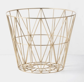 Wire Basket - Brass - Small