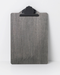 Clipboard - A4 - Stained Black