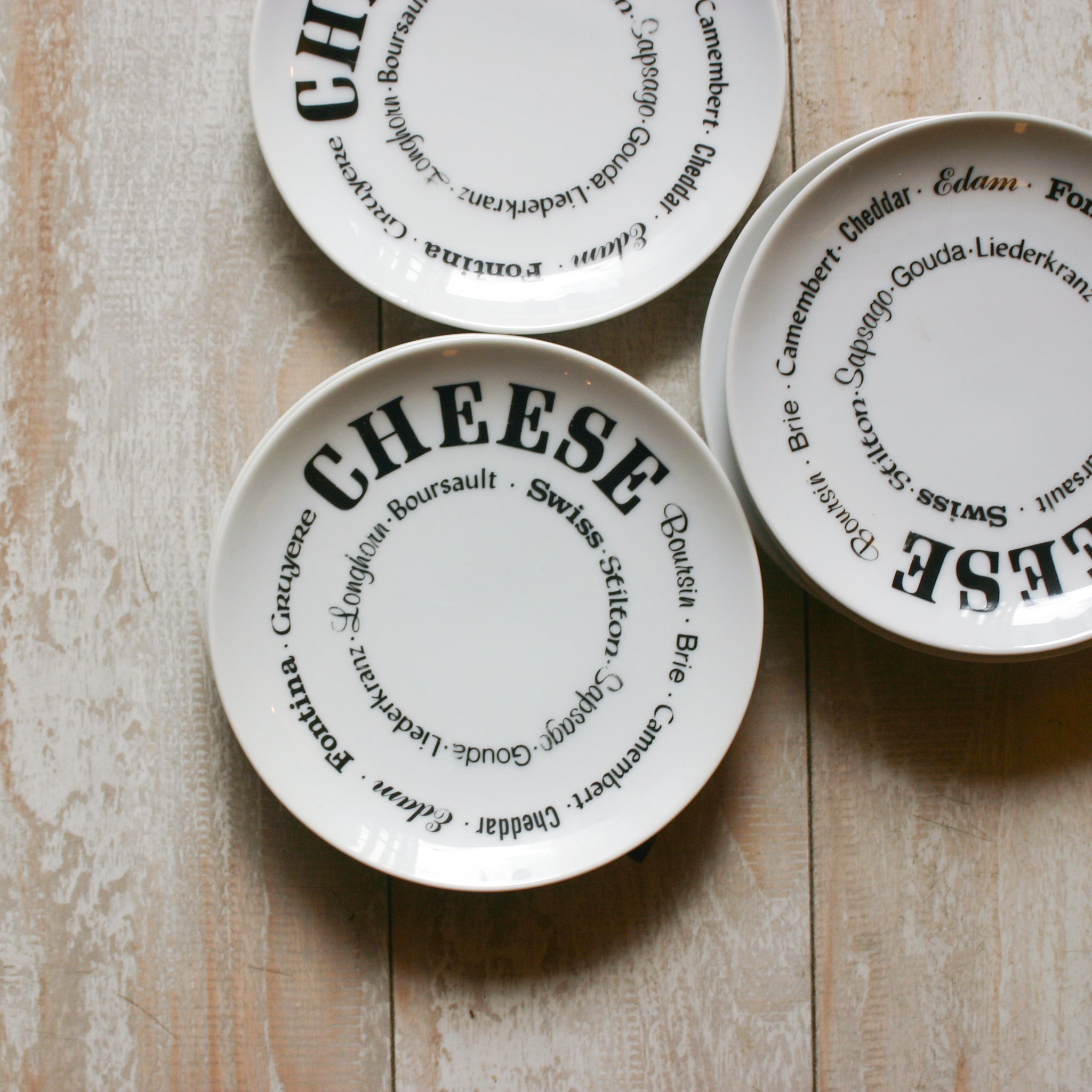 Vintage Cheese Plate Set
