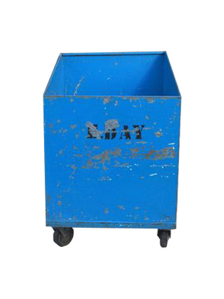Industrial Rolling Storage Bin Blue
