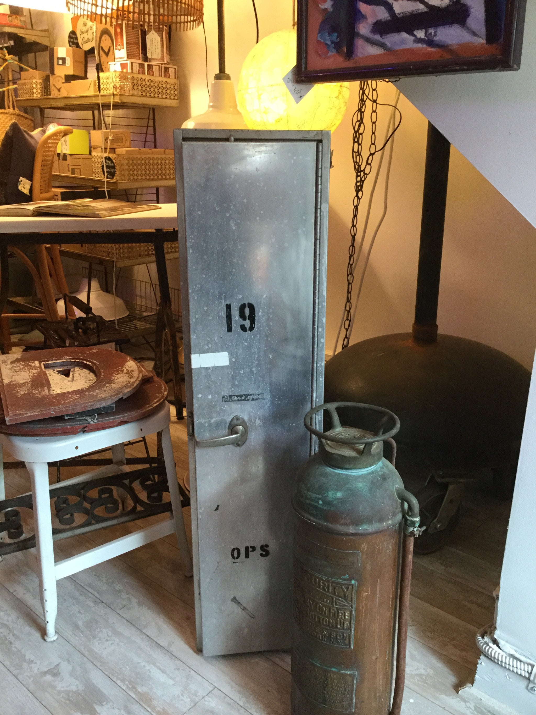 Industrial Aluminum Locker from Sparrow's Point - Barefoot Dwelling