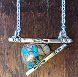 Rock and a hard place, radical metal, lisa blank, turquoise jewelry, silver and turquoise, royston turquoise, turquoise jewelry, jewelry, custom jewelry,