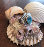 Sea Blue Shell Size:Adjustable