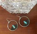 Turquoise Hoops & Holes, Radical Metal, Lisa Blank, Jewelry, Handmade jewelry, hoop earrings, silver and turquoise jewelry, Handmade jewelry, Lisa Blank