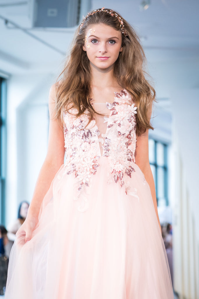"Spring '19 - The ""Michaela"" Sequin Flower Princess Tulle Dress"