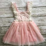 "The ""Renee"" Vintage Inspired Apron Dress - Pink - Angora Boutique - 3"