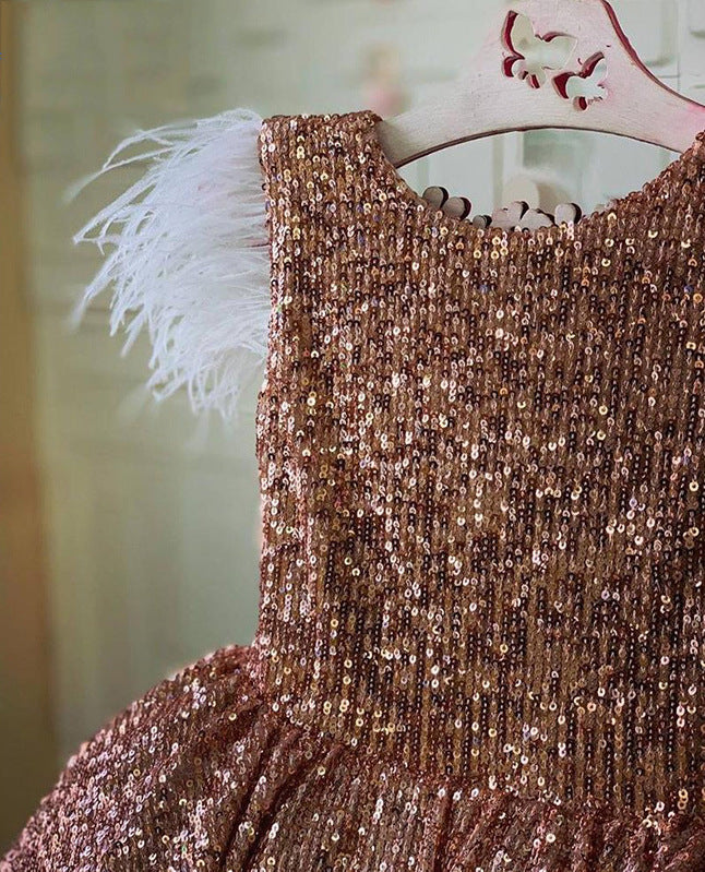 Radiance Rose Gold Party Dress