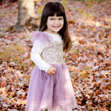 "The ""Lexi"" Toddler + Girls Purple and Gold Sequin Tutu Dress - Angora Boutique - 1"
