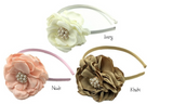 Shabby Chic Floral Pearl Headband - Angora Boutique - 1
