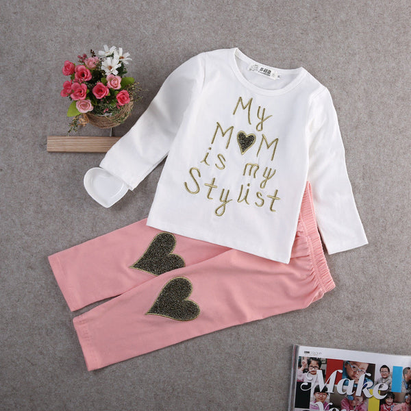 My Mom is my Stylist Girls Set - Angora Boutique - 1