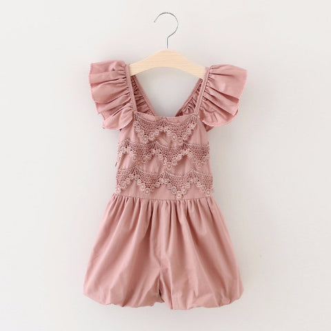 "The ""Elsie"" Dusty Rose Lace Romper - Angora Boutique - 1"