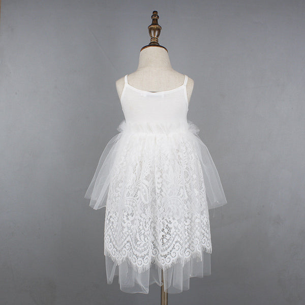 "The ""Madison"" Sequin Lace and Tulle Girls Dress - Angora Boutique - 2"