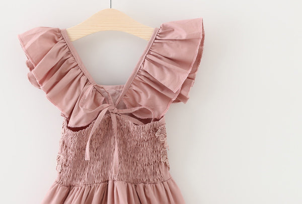 "The ""Elsie"" Dusty Rose Lace Romper - Angora Boutique - 2"