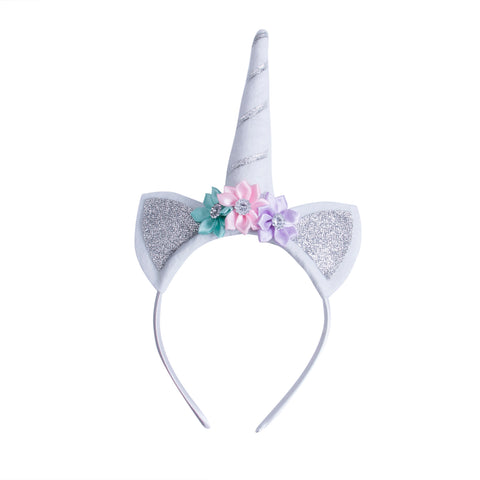 Silver Dreamy Unicorn Headband