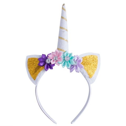 Gold Dreamy Unicorn Headband