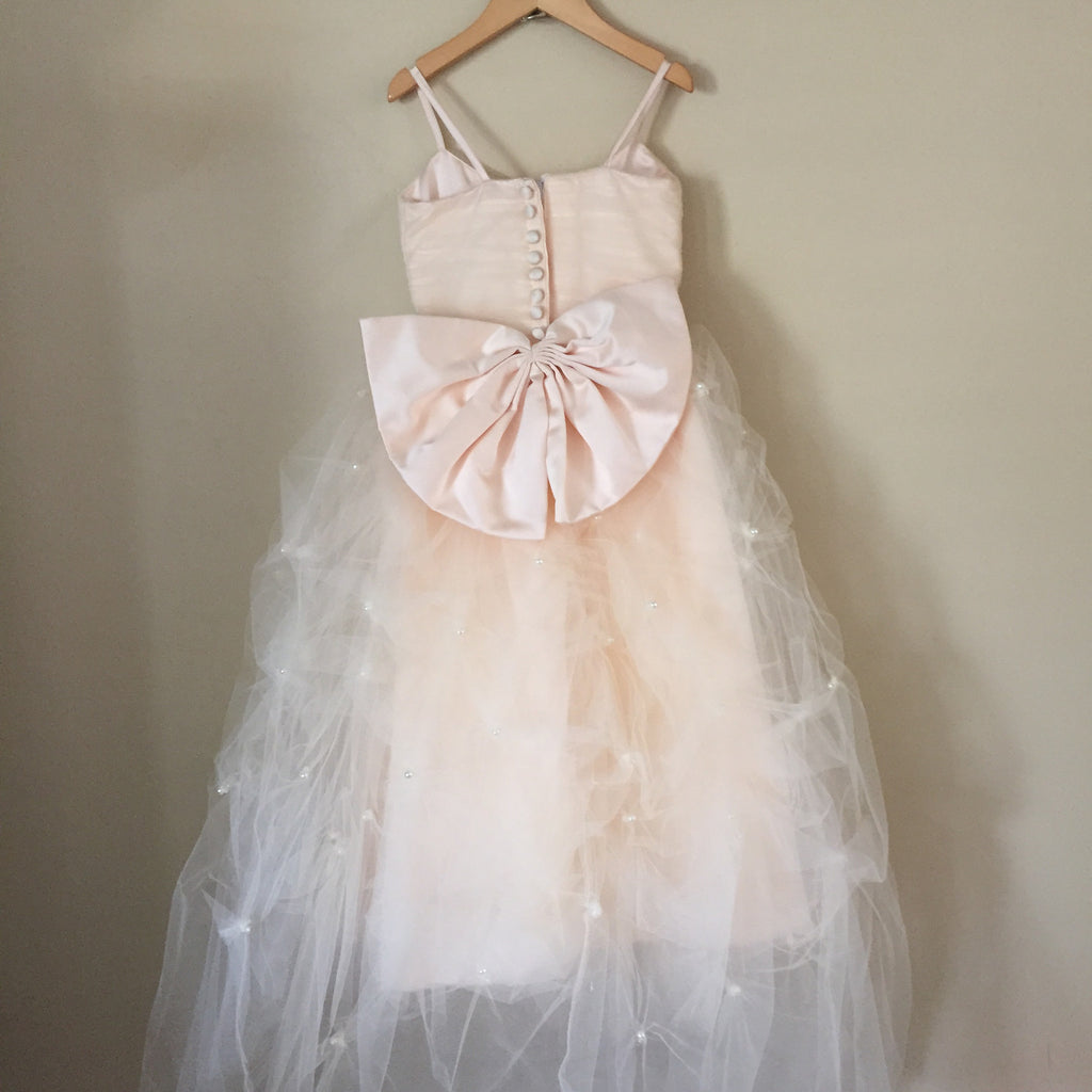 "The ""Leyla"" Tulle and Pearl Bow Dress - Angora Boutique - 4"