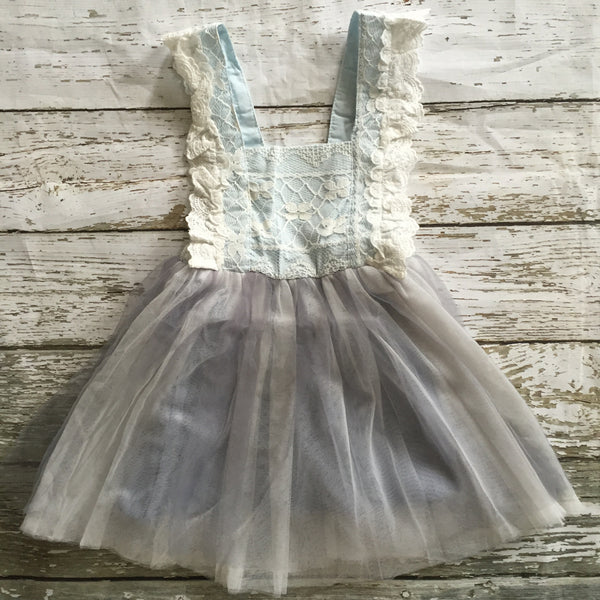 "The ""Renee"" Vintage Inspired Apron Dress - Blue - Angora Boutique - 1"
