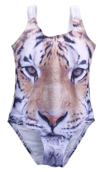 Little Girls Tiger One Piece Swimsuit Angora Boutique