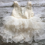 "Vintage Glam - The ""Peyton"" Ivory Sequin Flower Girl Party Dress - Angora Boutique - 5"