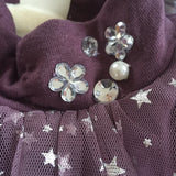 "The ""Lila"" Moon and Stars Pink and Purple Baby Dress - Angora Boutique - 4"