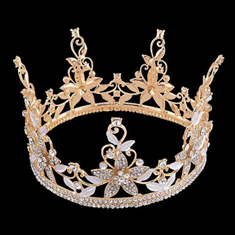 Floral Royal Gold Crown Headpiece