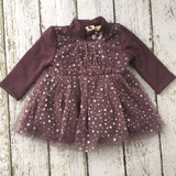 "The ""Lila"" Moon and Stars Pink and Purple Baby Dress - Angora Boutique - 2"