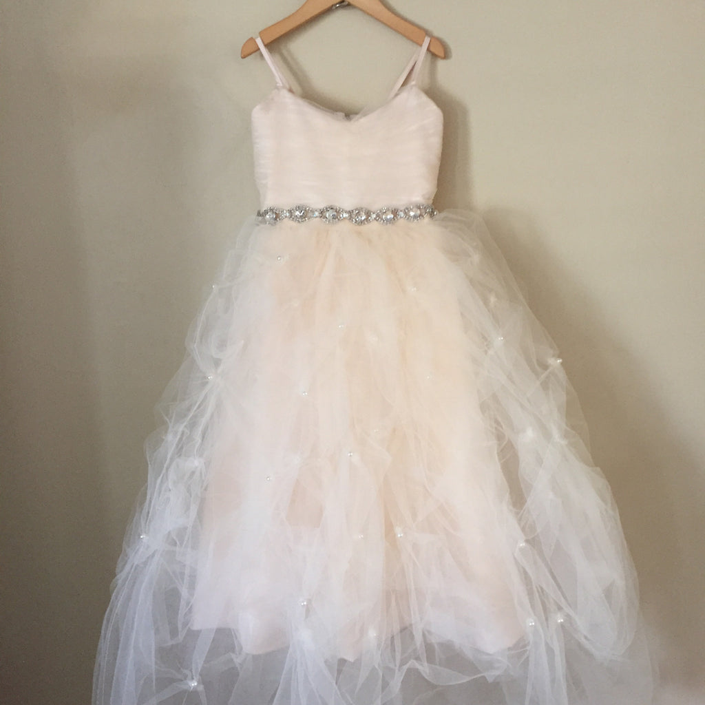 "The ""Leyla"" Tulle and Pearl Bow Dress - Angora Boutique - 3"
