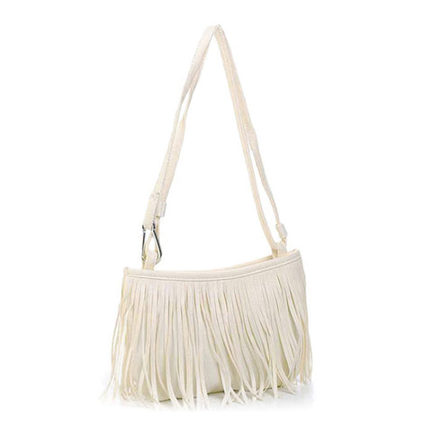 Boho Fringe Leather Bag