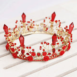 Less than Perfect - Rose & Crystal Royal Tiara Red Crown - Angora Boutique - 2