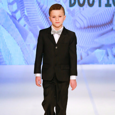 Angora Boys Black Formal Suit