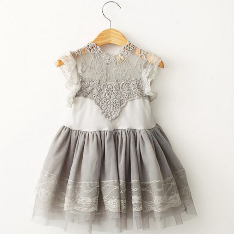 "The ""Isabelle"" Gray Lace Dress - Angora Boutique - 2"