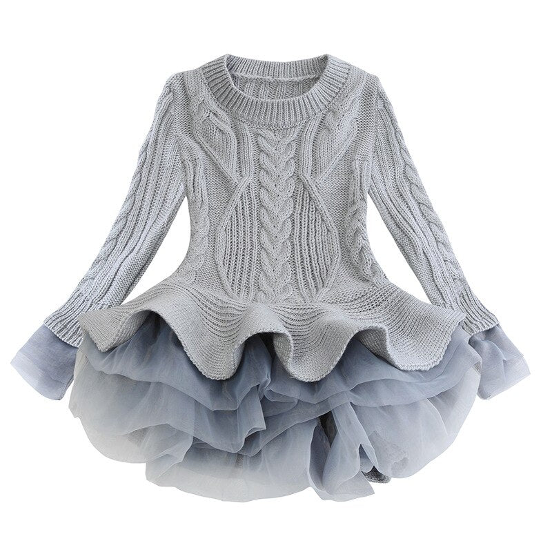 "The ""Abigail"" Girls Tutu Sweater"