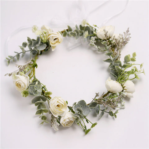 Impeccable Ivory Spring Flower Crown