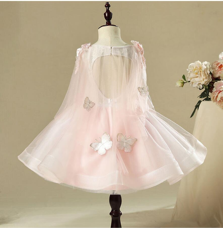 "The ""Mariposa"" Girls Pink Butterfly Dress"