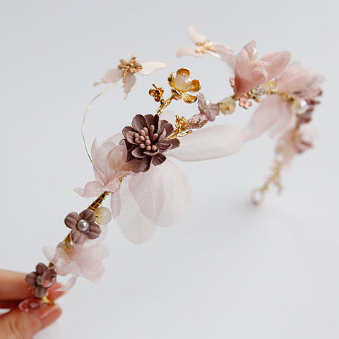 Butterfly Fantasia Floral Gold Headpiece