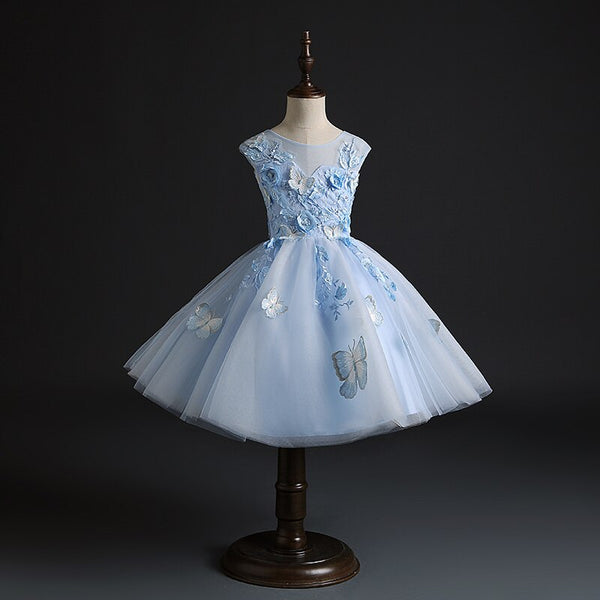 "The ""Monarch"" Girls Blue Butterfly Tutu Dress"