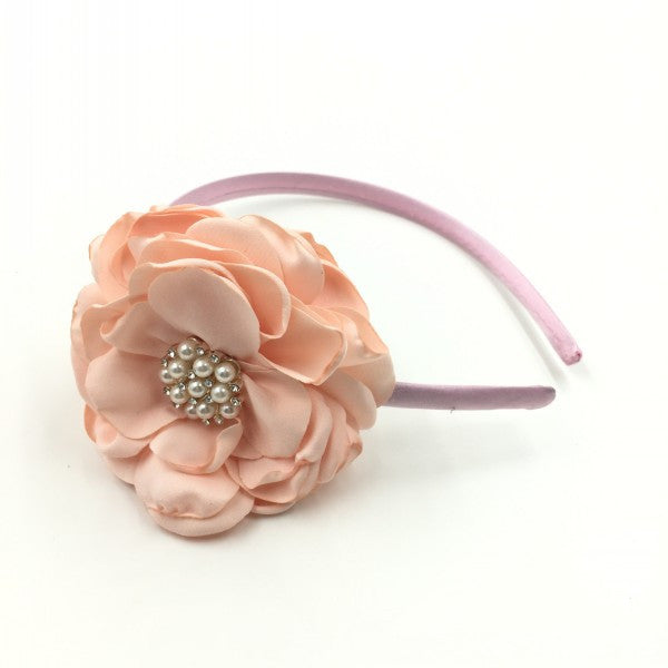 Shabby Chic Floral Pearl Headband - Angora Boutique - 2