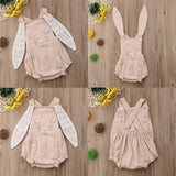 Little Rabbit Lace Ears Baby Romper