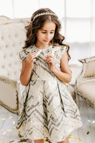 "The ""Blair"" Vintage Inspired Jacquard Princess Dress"