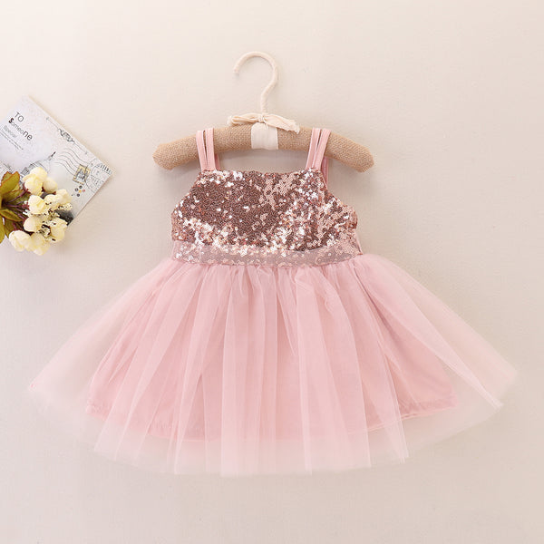 "The ""Ashley"" Rose Gold Sequin Baby Dress"